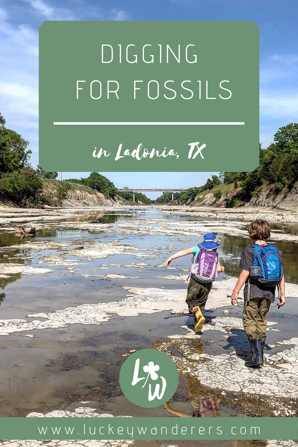 fossil digging with kids pinterest ladonia texas