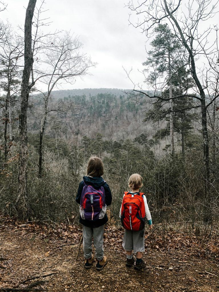 hiking with kids backpacks arkansas