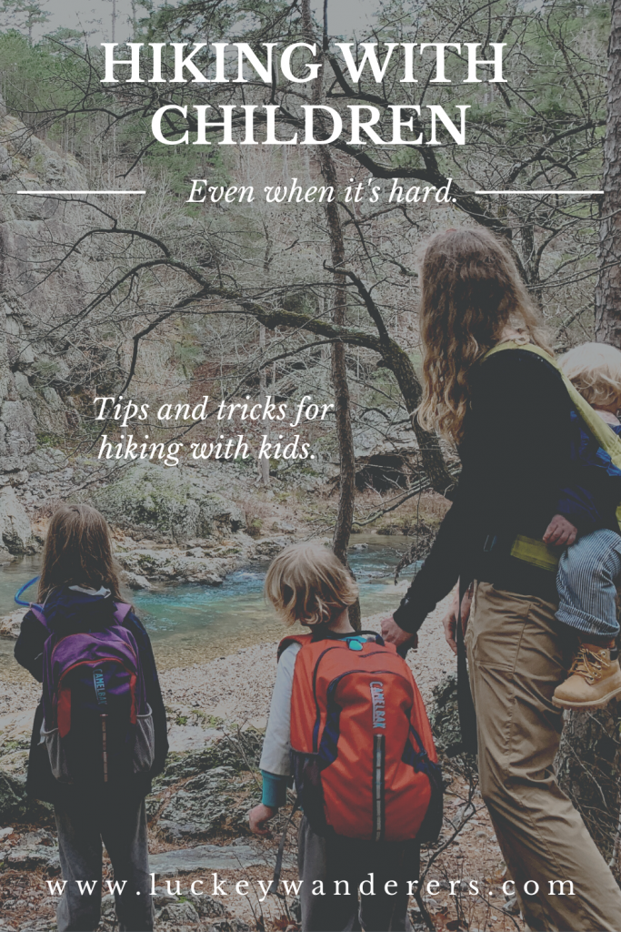 hiking with kids when it's hard pinterest