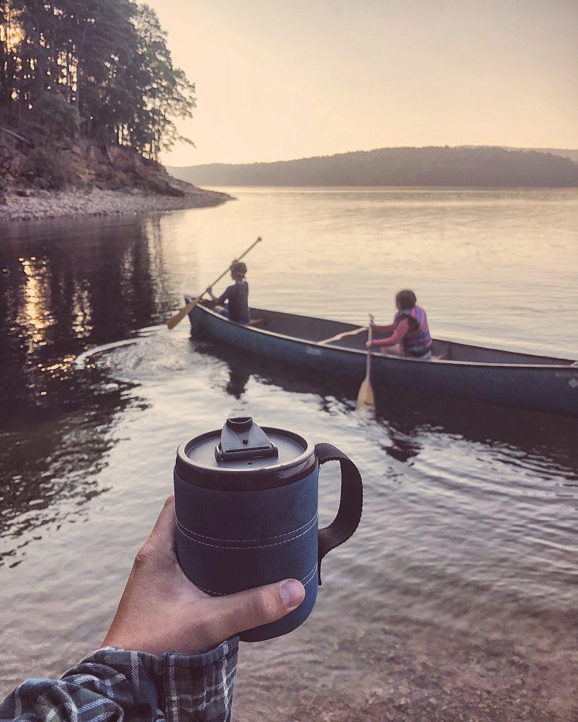 lake ouachita camping adventure canoeing