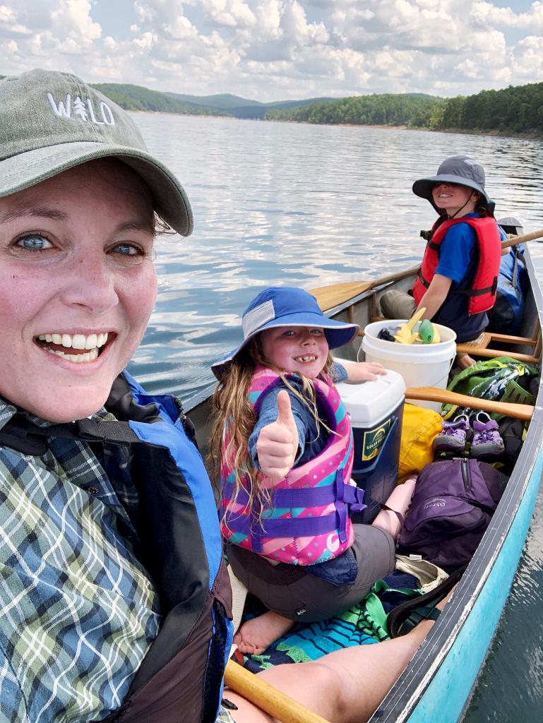 family canoe trip lake ouachita