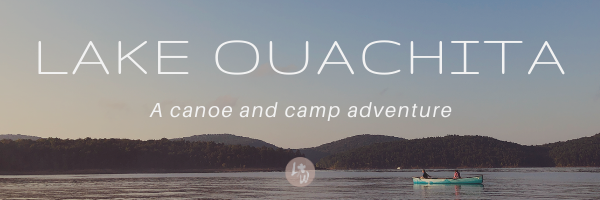 lake ouachita arkansas canoe adventure